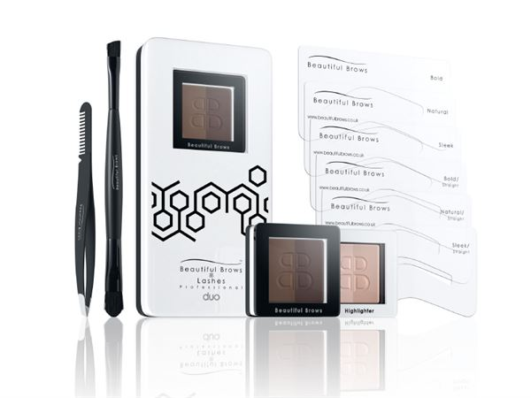 BEAUTIFUL BROWS  KIT DUO MAQUILLAJE CEJAS slate/black