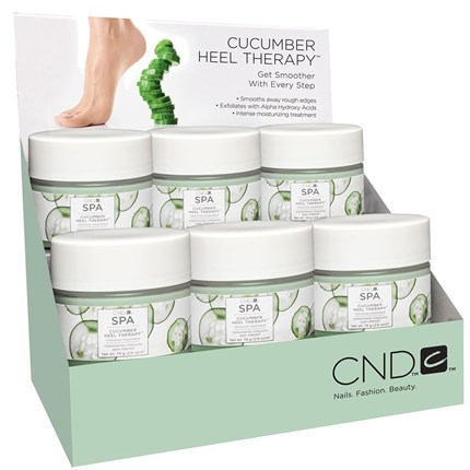 DISPLAY CUCUMBER HEEL THERAPY 6x74g CND