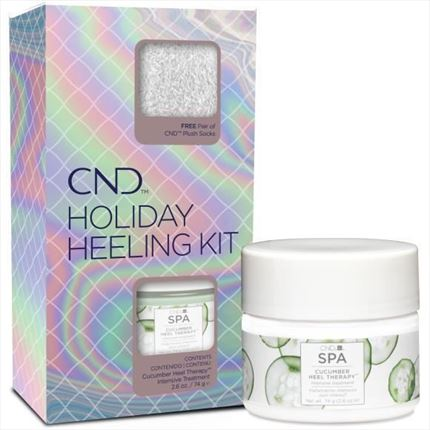 HOLIDAY HEELING KIT Cucumber 74g+calcetines CND