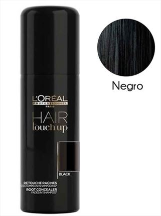 HAIR TOUCH UP 75ml spray cubre canas negro L'OREAL