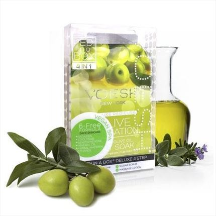PEDI IN A BOX Pedicura en 4 Pasos - Olive Sensation