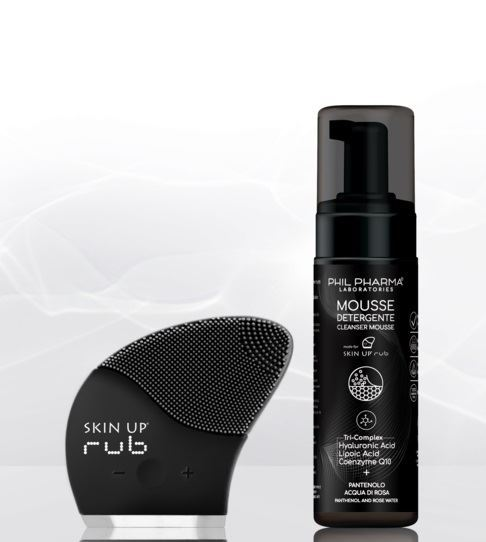 SKIN UP RUB + CLEANSER MOUSSE