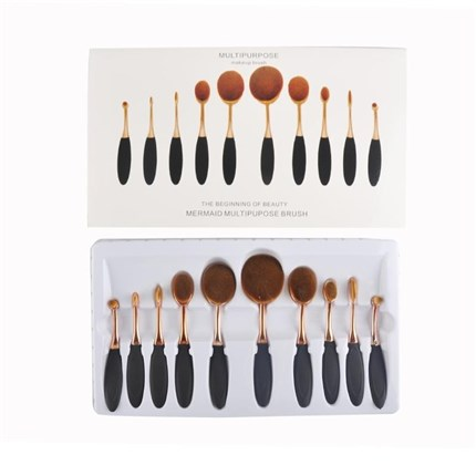 KIT PINCELES MAQUILLAJE 10uds