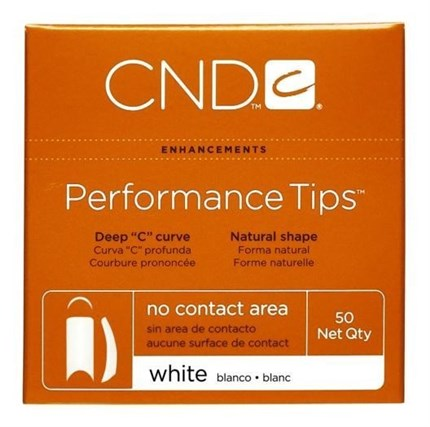 WHITE PERFORMANCE TIPS 50uds. Nº8 CND